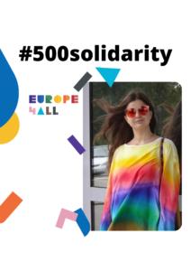 eksempelplakat for 500 solidarity