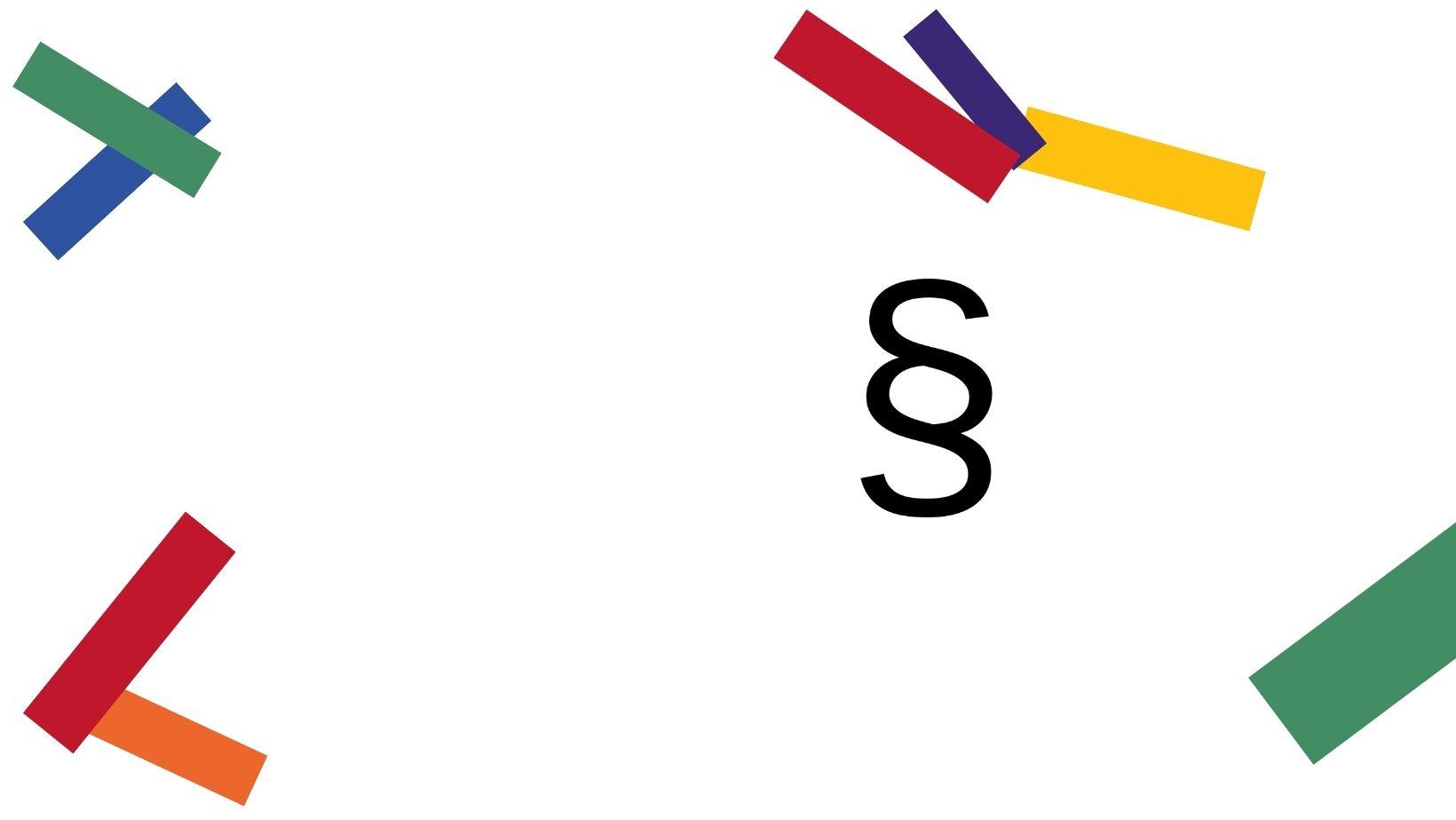 Logo og paragraftegn