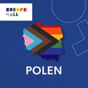 Kart over polen med pride-farger