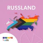 Kart over Russland med Pride-Farger