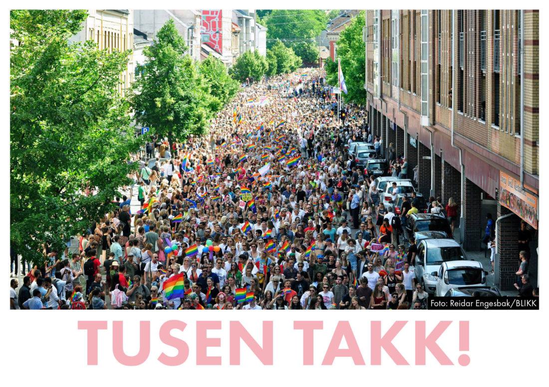 Tusen takk for en fantastisk Oslo Pride